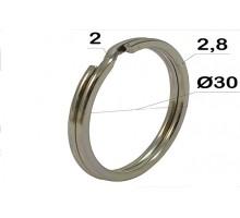 Кольцо для ключей,  30 мм (плоское)