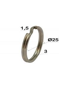 Кольцо для ключей, 25 мм